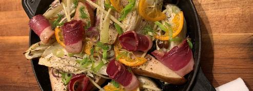La recette de fenouil et poire rôtis au magret fumé d'Amandine Chaignot