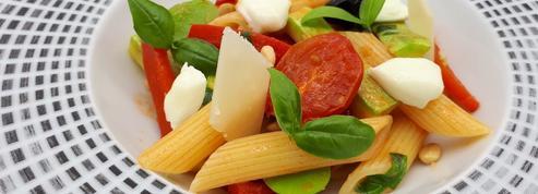 La recette des penne aux légumes de Virginie Basselot