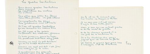 Manuscrits de Brassens: un jeu inouï autour des vers et des sons