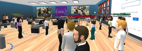 À Neoma, les étudiants ont fait leur rentrée sur un campus virtuel aux allures de jeu vidéo