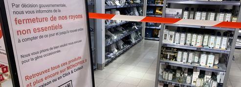 Étages fermés, rayons bloqués, linéaires bâchés… le casse-tête des commerçants