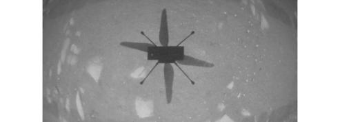 Les 30 secondes historiques d'un hélicoptère sur Mars