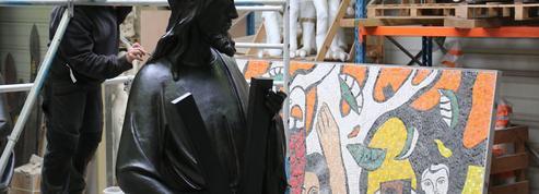Dernière couche pour les statues de Notre-Dame