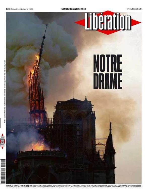La une de  <i>Libération</i>.