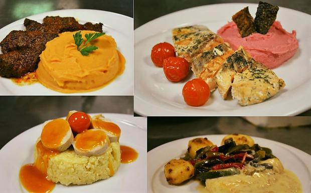 Les plats concoctés par le chef Grégory Cohen.