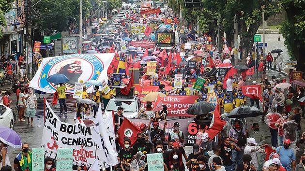 Au Brésil, la rue réclame la destitution de Jair Bolsonaro