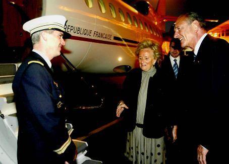 Francis Pollet aux côtés de Bernadette et Jacques Chirac.