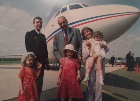 Les filles et l'épouse de Francis Pollet ont eu l'occasion de rencontrer Jacques Chirac.