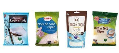 Auchan, Cora , Leclerc, Système U : rappel de sachets de noix de coco râpée contaminés par des salmonelles