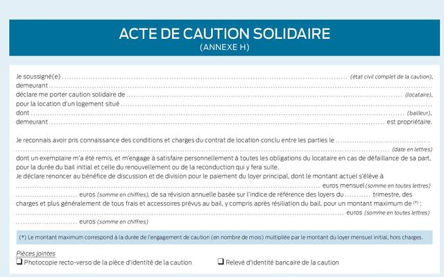 Location : fin de la mention manuscrite pour l'acte de caution
