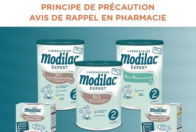 Modilac : la liste des produits pour bébés rappelés après la découverte d'une salmonelle