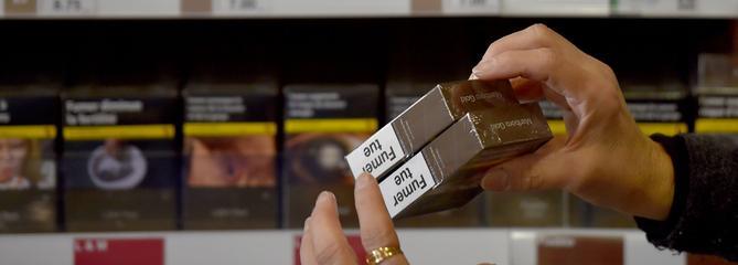 Moins de cigarettes vendues en 2017 qu'en 2016