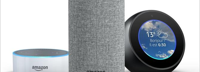 Comparatif Amazon Echo, spot et Dot
