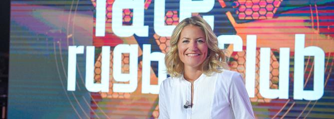 Canal+ Sport : Astrid Bard et Laurent Weil fêtent le rugby