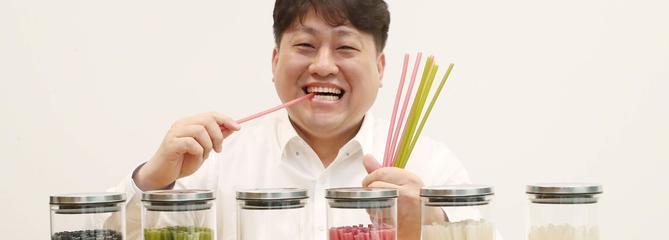 Une entreprise coréenne fabrique des pailles comestibles