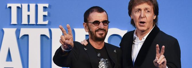 Paul McCartney et Ringo Starr en duo surprise en Californie