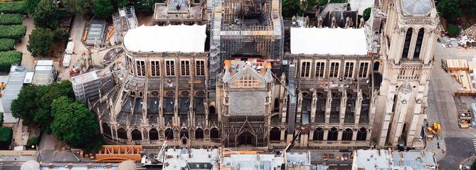 Notre-Dame: le chantier reprend sous haute surveillance
