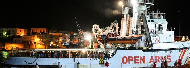 L'Open Arms a accosté cette nuit à Lampedusa
