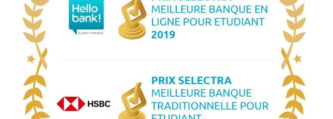 Hello Bank et HSBC lauréates de la première édition du prix Selectra de la meilleure banque pour étudiant