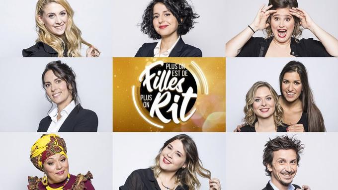 De haut en bas et de gauche à droite: Laura Laune, Nadia Roze, Elodie Poux, Olivia Moore, Constance et Marie Reno, Samia Orosemane, Tania Dutel et Arnaud Tsamère.