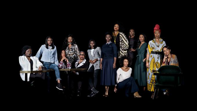 Les comédiennes qui témoignent dans  <i>Noire n'est pas mon métier</i>, paru aux éditions du Seuil. ©Frédéric Stucin