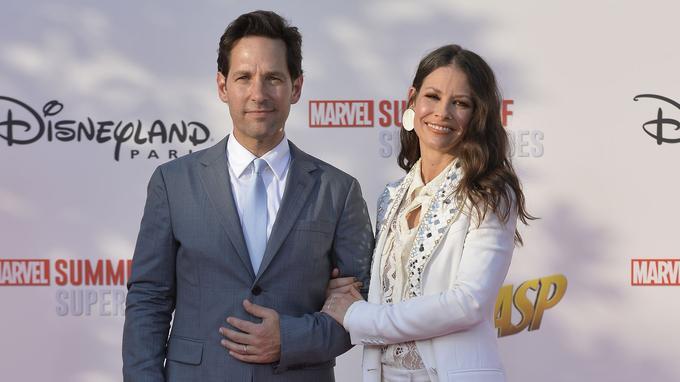 Paul Rudd et Evangeline Lilly à l'avant-première européenne d'Ant-Man et la Guêpe au parc Walt Disney Studios.