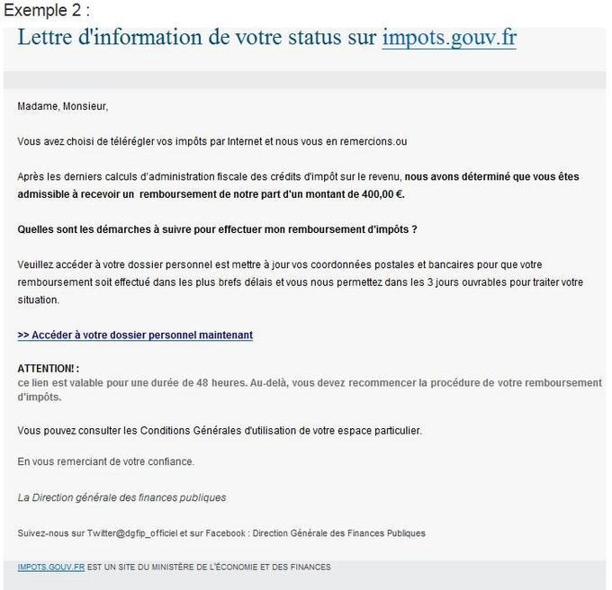 Alerte Gare Aux Faux Courriels Promettant Un Remboursement