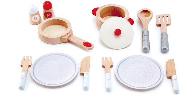 Hape Jeu d'Imitation en Bois-Cuisine-Dinettebis