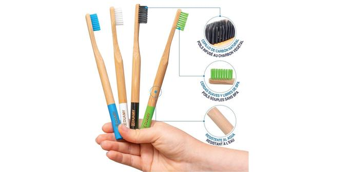 Brosses à dents écologiques Bamboo Toothbrush