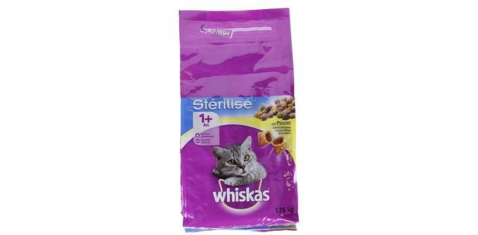 Croquettes pour chat adulte Whiskas au Poulet