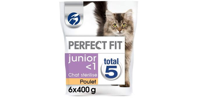 Croquettes pour chaton Perfect Fit Junior Total 5