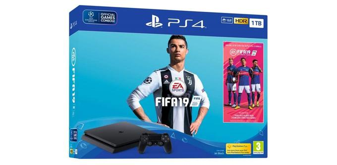 Console de jeu PS4 Slim 1TO +FIFA 19