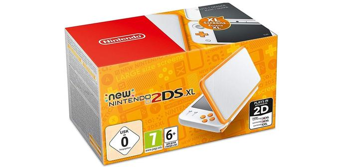 New Nintendo 2 DL XL Blanc et Orange