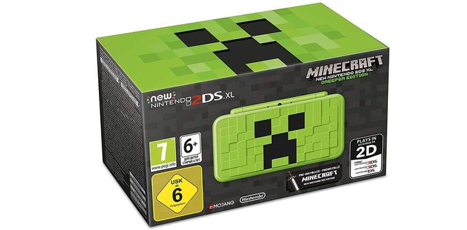 New Nintendo 2 DS XL avec Minecraft