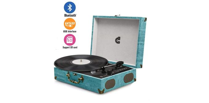 Platine vinyle: Box Legend Wockoder Platine Vinyle Bluetooth