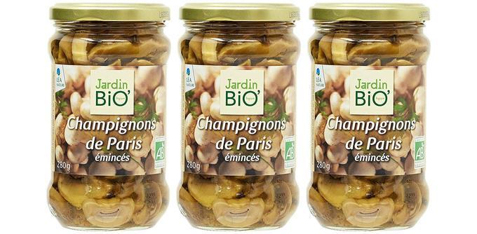 Jardin Bio Champignons de Paris émincés