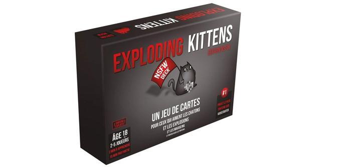 Jeu de cartes Asmodée Exploding Kittens Edition NSFW