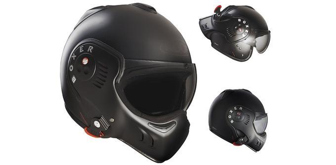 Casque de moto Roof Boxer V8 Full Black