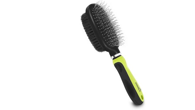 Brosse chien Pecute Double Face