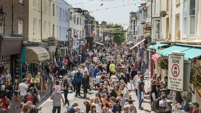 North Laine est le quartier bohême de Brighton, situé entre la gare et le centre historique.