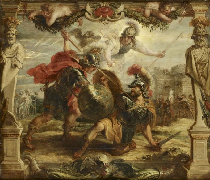 Hector tué par Achille, RUBENS Pierre Paul, 1630, huile sur bois.