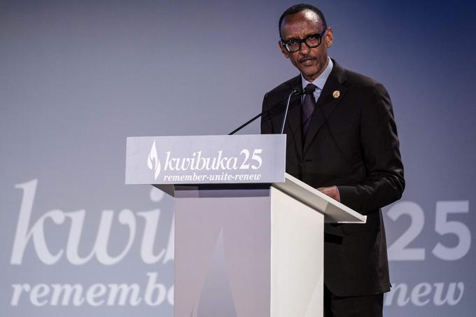 Paul Kagamé a prononcé un discours retransmis par la télévision.