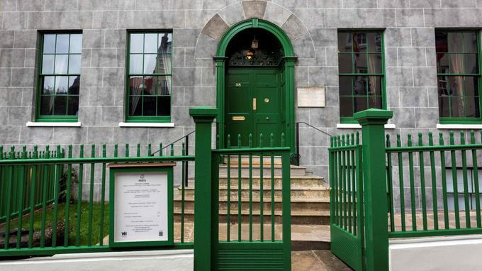 L'entrée de Hauteville House, où Victor Hugo séjourna pendant son exil sur les îles Anglo-Normandes.