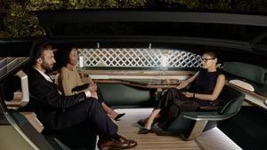 L'intérieur du concept car de voiture autonome EZ-Ultimo présenté par Renault à l'occasion du dernier Mondial, met également l'accent sur le confort.
