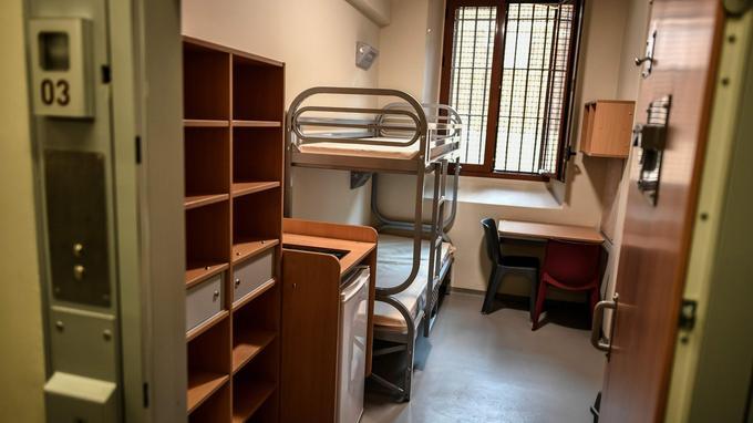 Une cellule de la nouvelle prison de la Santé.