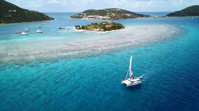 Odyssée aux Caraïbes, ici Scrub Island, dans les Iles Vierges britanniques