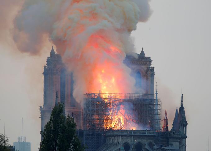 En moins de deux heures, l'intégralité de la toiture de la nef et sa charpente en bois ont été détruites.