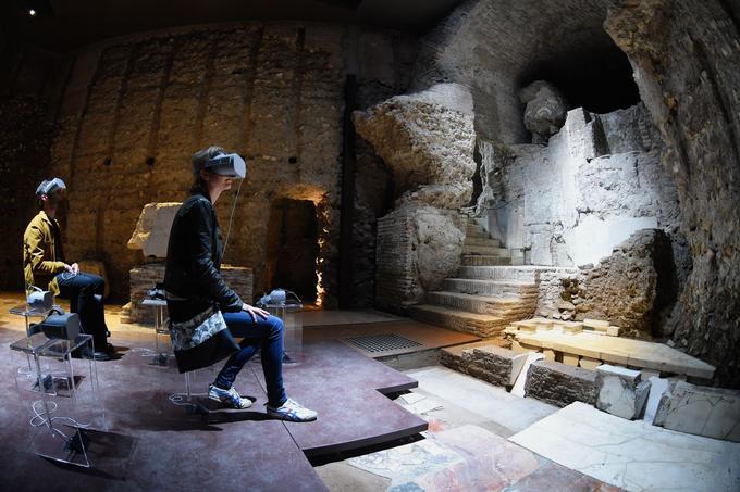 Un parcours en réalité virtuelle est proposé aux visiteurs pour redécouvrir le luxe du premier palais de Néron.