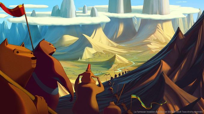 «La Fameuse Invasion des ours en Sicile» est tiré du conte de Dino Buzzati.