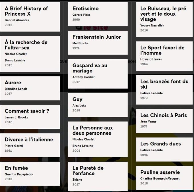 Les films programmés dans «Un drôle de festival 2019».